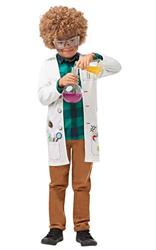 Rubies 's - Disfraz de científico loco oficial para niños, uniforme de médico de laboratorio