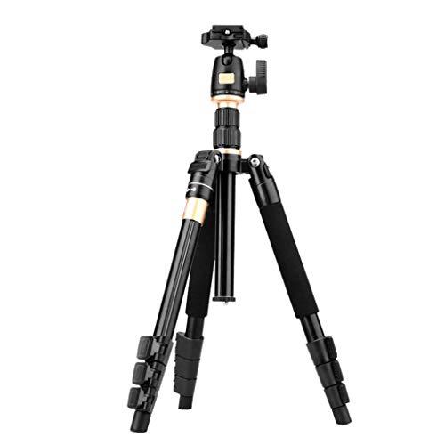 QQAA Aluminium SLR camera statief, draagbare vouwen reisstatief, fotografie buitenboord gesp beugel, kan worden gebruikt voor live uitzending, zwart