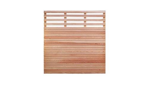 MEIN GARTEN VERSAND Douglasienzaun Sichtschutz Gartenzaun Maß 180 x 180 cm (Breite x Höhe) mit Rhombuslatten Füllung aus naturbelassenem Douglasie Holz Eifel