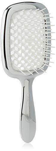 Jäneke cepillo cuerpo cromado con erizo blanco–74G