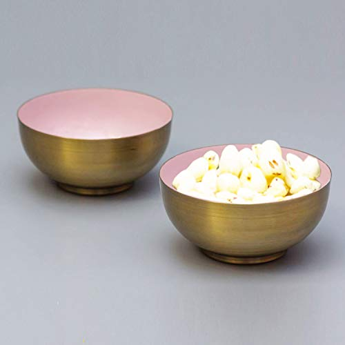 Serving Bowls Metallic Unbreakable for Snacks Dry Fruits Set...