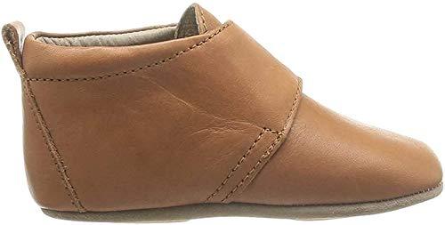 Bisgaard Unisex Baby Velcro Star Pantoffeln, Braun (66 Cognac), 24 EU