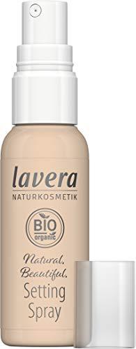 lavera Naturalmente hermoso entorno en spray, maquillaje natural, acabado cosmético natural, transparente.