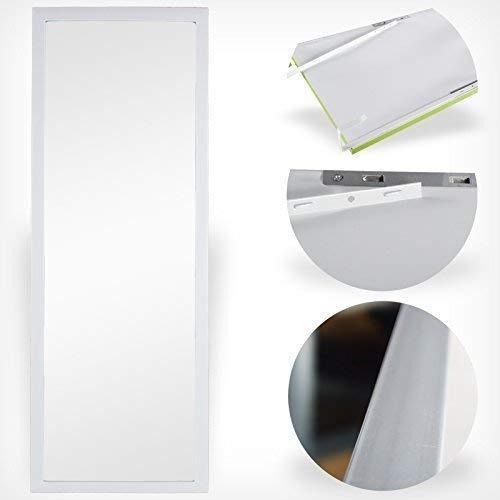 DRULINE Türspiegel Tür Spiegel Hängespiegel Rahmenspiegel 35x95cm schwarz weiss (weiß)