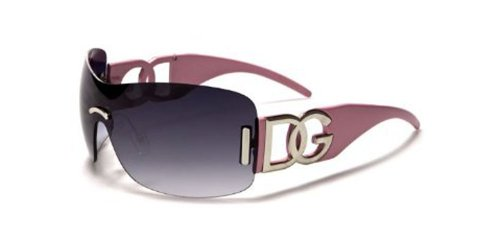 DG Eyewear Womens Oversized Pink Sunglasses