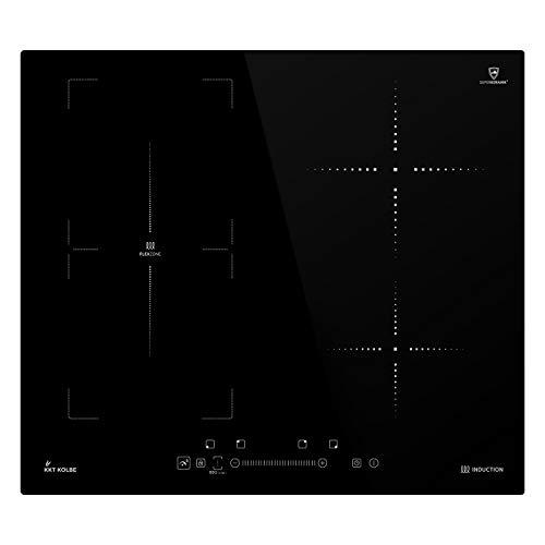 KKT KOLBE Induktionskochfeld 59cm / Autark / 7kW / 9 Stufen / 4 Zonen/Flex-Zone/Rahmenlos/TouchSelect Sensortasten/Booster/LED-Anzeige/BBQ-Funktion / IND5901FZ
