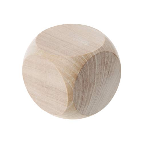 guanjunLI 1pcs 5cm 6 Blanko Holz-Würfel Beschreibbar Würfel Standardwürfel Dice 6-seitige D6 Würfel, Für Tisch Brettspiel Spiel Favor Spielzeug