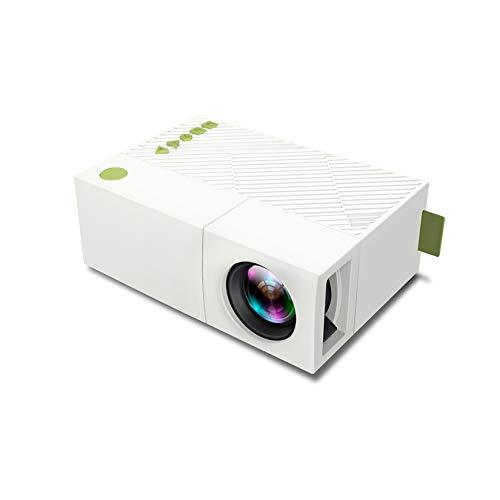 Proyector Portátil, Soporte 24-60 Pulgadas De Pantalla, Proyector De Luz LED De Alta Definición De 1080P, Soporte AV/TF/Tarjeta/U Disco/DVD