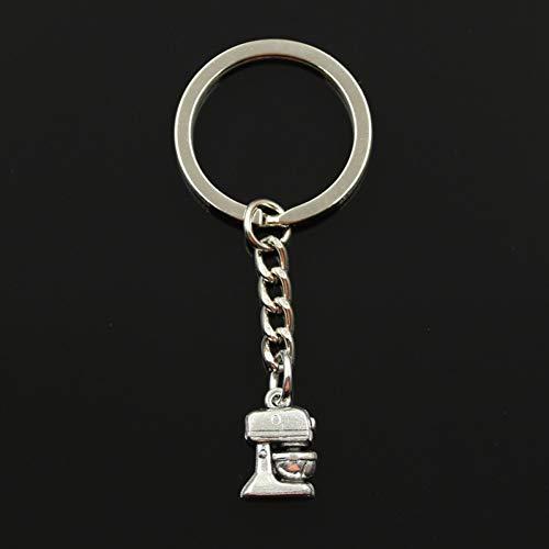 SHEANAON Mode Schlüsselbund 16X10Mm Elektromixer Küche Kochen Anhänger DIY Männer Auto Schlüsselanhänger Ringhalter Souvenir für Geschenk