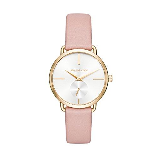 Michael Kors Damen Analog Quarz Uhr mit Leder Armband MK2659