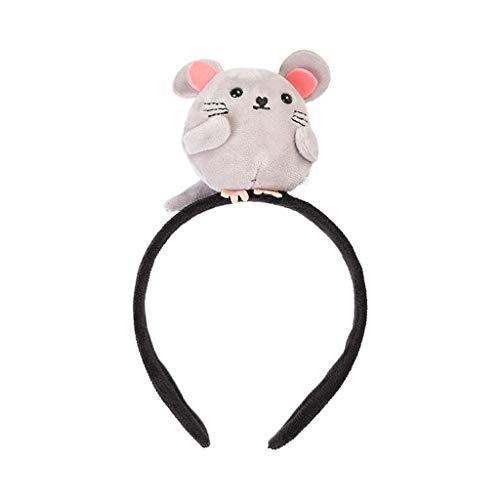 Hothap volwassenen kinderen plezier 3D gevulde muis hoofdband cartoon dier Nieuwjaar party haar Hoop 2 (eerste foto)