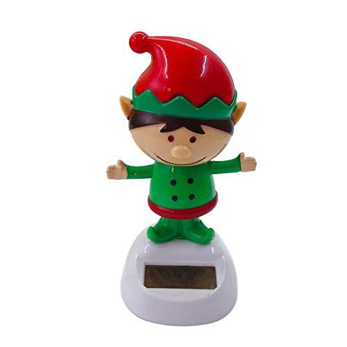 Auto Dashboard Solarbetriebene Tanzspielzeug, Weihnachtsauto Dekorationen, Moving Head Figuren, Solar Schneemann, Puppe Dekoration Spielzeug (L)