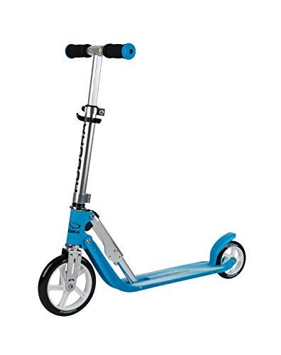 HUDORA 14202/00 Little BigWheel, himmelblau-Scooter Roller Kinder-Verstellbare Lenkerhöhe von 68 bis 74 cm