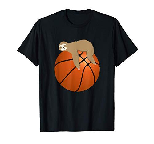 Faules Faultier schläft auf einem Basketball-Ball T-Shirt