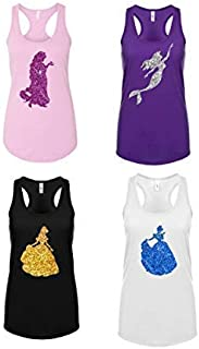 Women's Disney Glitter Choose Your Princess Tank