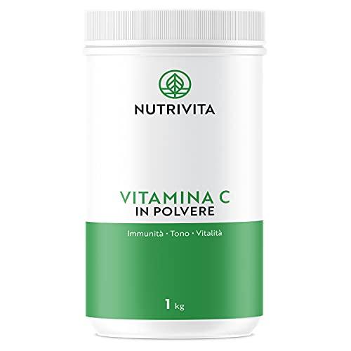 Vitamina C Polvere 1 kg | 100% Acido Ascorbico Puro 1000mg | Polvere Ultra Fine | Migliora il Sistema Immunitario | Confezionata in Francia | Cucchiaio di Misurazione Incluso | Nutrivita