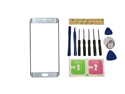 Flügel Frontglas für Samsung Galaxy S6 Edge Plus G9280 G928 G928F Glas Displayglas Ersatzglas Silber (ohne Touchscreen und ohne LCD) Ersatzteile & Werkzeuge & Kleber