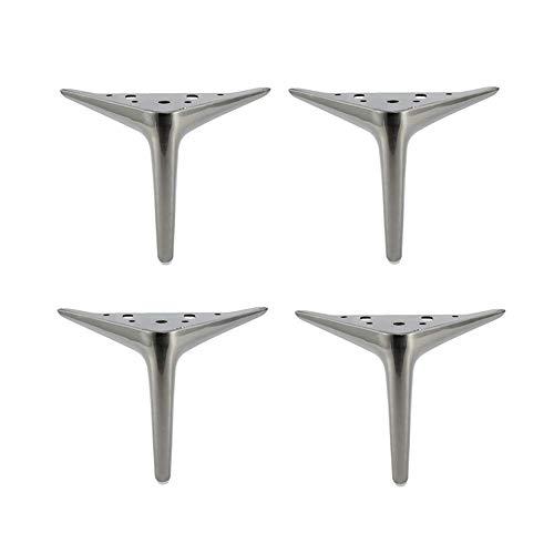YXB Eenvoudige en stijlvolle bank voeten roestvrij stalen bank salontafel poten meubels ondersteunen voeten cilindrische holle driebenige steunvoeten