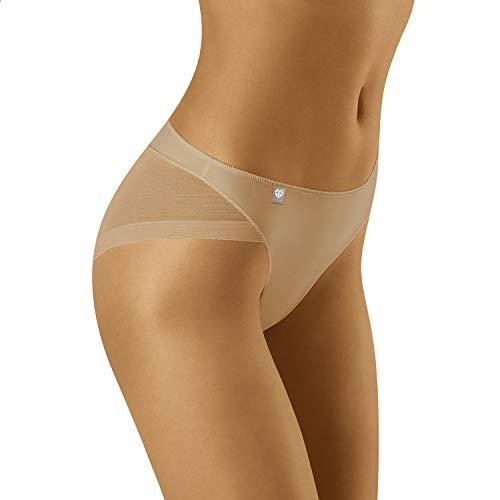 Wolbar Damen Slip Unterwäsche Unterhose Diamond 3517, Beige,Small
