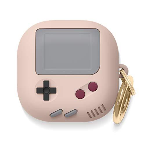 Capa elago GB5 compatível com Samsung Galaxy Buds Live Case, design clássico de console de jogos portátil (rosa e rosa)