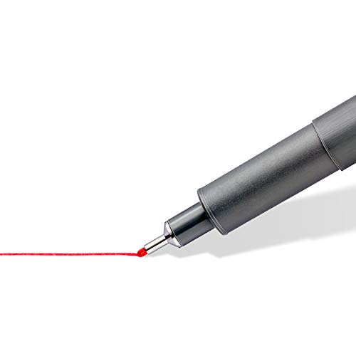 STAEDTLER 30805-SSB6 0.5 mm Coloured Pigment Liner, Multi-Colour, Pack of 6