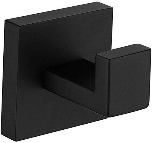 MLOZS Montado en la pared de baño toallero de acero inoxidable Color Negro Percha Para el baño de la cocina Accesorios sanitarios Cepillado Toallero Titular de Toallero de Hotel Rail Toallero