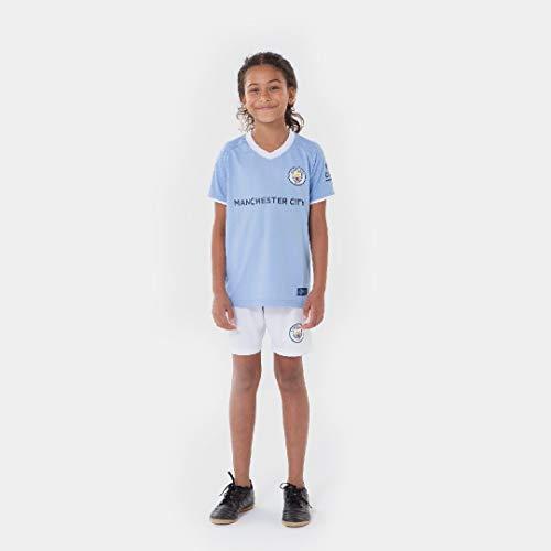 Morefootballs - Offizielles Manchester City Heimspiel Trikot Set für Kinder - 2020/2021-152 - Vollständiges Man City Tenue mit Trikot und kurzer Hose - Fussball Shirt und Shorts