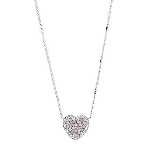 Fossil Damen-Kette mit Herz-Anhänger Mosaic Heart Edelstahl JF03415040