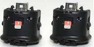 Wii Motion Plus Adapter for Original Nintendo Wii Remote Controller(black,set of 2) (Renewed)