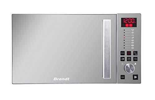 Brandt CE2646W - Micro Ondes Combiné - 26L - 1100W - Auto Programme - Cavité Inox - Façade Miroir - Blanc