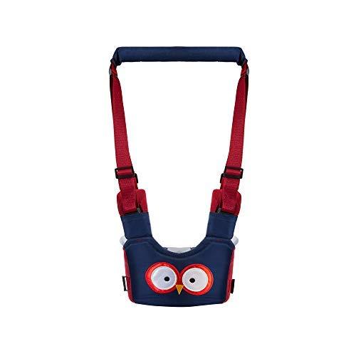 babykly ベビー歩行補助ベルト 歩行練習 (8ヶ月〜2歳) 幼児歩行練習 用 学習歩行ベルト 幼児の安全ハーネス 迷子防止ハーネス 通気性と快適性 調節可能 (blue owl)