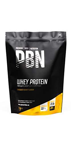 PBN - Proteína de suero de leche en polvo, 1 kg (sabor manteca de cacahuete)