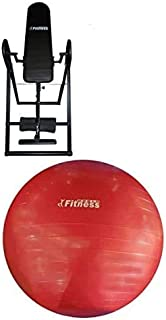 Fitness World Seat for strength training with Yoga ball World Fitness, Red - 85 cm