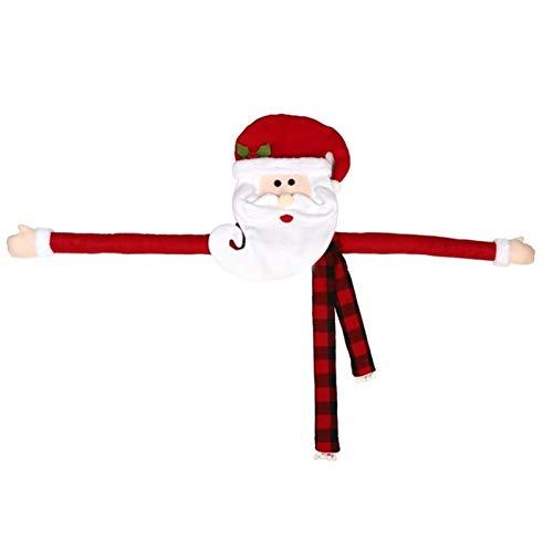 GSDJU Plüschtiere Christmas Tree Top Star Weihnachtsmann, Weihnachtsbaum Top Dekoration, Hut Dekoration, Weihnachtsmann-Kleidung Schal (Color : Red)