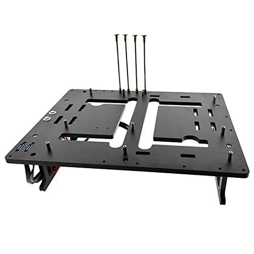 YYGE JXK-K2 PC - Carcasa abierta para placa base MATX, carcasa de ordenador con marco abierto compatible con plataforma de prueba de refrigeración por agua 244