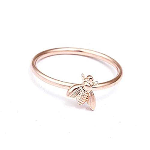 Rose Gold Fashion Cute Women's Little Bee Rings Female Chic Dainty Insect Rings