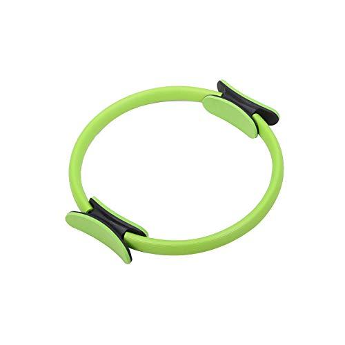 DYHF Anillo de Pilates Fitness Pilates de 15 pulgadas con círculo mágico para entrenamiento de resistencia para tonificar y esculpir interior y exterior muslos verde