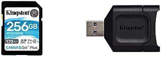 Kingston SDXCカード 256GB Class10 UHS-I U3 V30 Canvas Go! Plus SDG3/256GB 永久保証 + MOBILELITE PLUS SDリーダー MLP