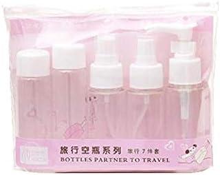 7Pcs/Set Travel Kit Empty Lotion Cosmetic Makeup Case Container Spray Bottle Pot Portable Refillable Empty Makeup Bottle(W...
