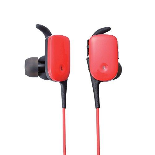 エレコム Bluetooth イヤホン (ブルートゥース) スポーツ向け 防水規格IPX5準拠 防汗 通話可能 ワンセグ音声可能 レッド LBT-HPC11WPRD
