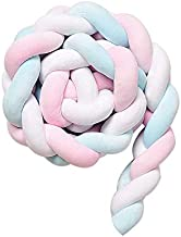 Aisheny 1M Baby Bed Colorful Knot Bumper Decor, Newborn Infant Knotted Braid Pillow Cushion Baby Sleep Crib Bumper Protector Home Decor
