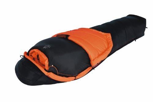 ALEXIKA Schlafsack Alpha 1+2, linke Reißverschluss, schwarz / orange, 100(Breite oben)x235(Länge) x70(Breite unten), 8208.1017L
