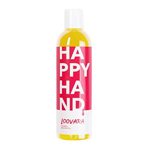 Loovara HAPPY HAND – erotisches Massageöl I Liebes-Öl fürs Vorspiel (250 ml) I Vegan, dermatologisch getestet, kondomsicher I Als Partnermassage & mit Sexspielzeug geeignet I Made in EU