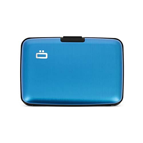 Ögon Smart Wallets - Cartera de aluminio Stockholm - Tarjetero RFID antirrobo - Capacidad 10 tarjetas y billetes - Azul