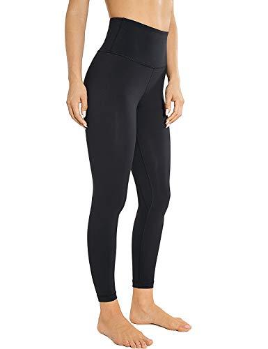AGONVIN Sport Leggins Yogahosen für Damen Sporthose Lang Tights High Waist Schwarz M(8/10)
