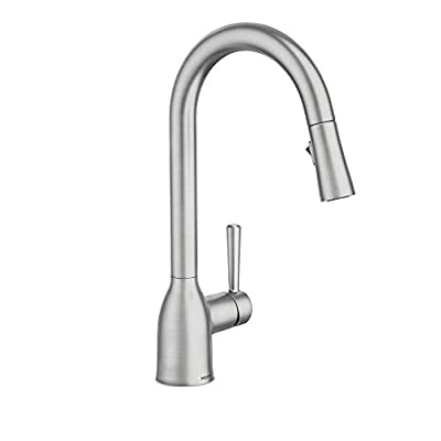 Moen 87233SRS Adler One-Handle High Arc Pulldown Kitchen Faucet, Spot Resist Stainless