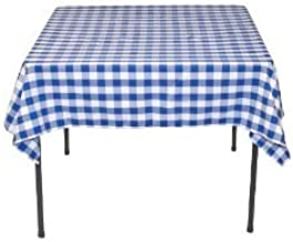 LinenTablecloth 54 Inch Polyester Tablecloth Checker