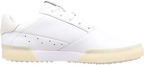 Adidas Herren Golfschuhe Adicross Retro-Leder, wasserdicht, ohne Spikes, Herren, Weiß / Gold, 8.5