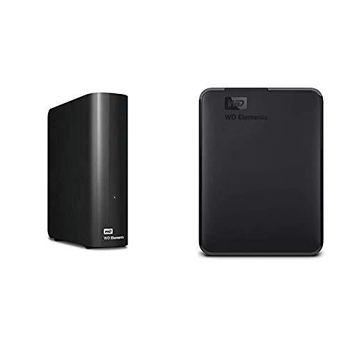 WD 8TB Elements Desktop Hard Drive - USB 3.0 - WDBWLG0080HBK-NESN & 2TB WD Elements Portable External Hard Drive, USB 3.0 - WDBU6Y0020BBK-WESN