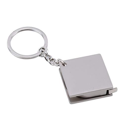 Kaned Mini-Maßband mit Schlüsselanhänger, niedliches einziehbares Lineal mit Schlüsselanhänger, Edelstahl